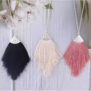 Fringe Fan Tassel Necklace